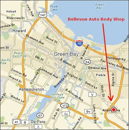 Green Bay Body Shop Location